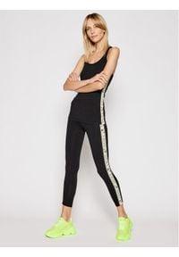 Deha Legginsy Side Logo B44015 Czarny Slim Fit. Kolor: czarny