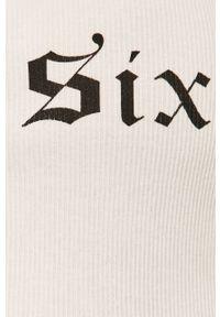 Biały top Miss Sixty z nadrukiem, na ramiączkach