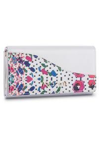 Biały portfel Kazar w kolorowe wzory