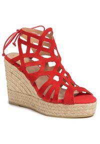 Czerwone sandały Kanna na co dzień, casualowe