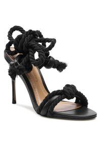 Czarne sandały Eva Longoria wizytowe