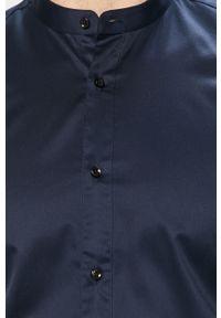 Niebieska koszula Hugo ze stójką, gładkie