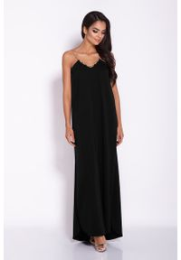 Czarna sukienka wieczorowa Dursi maxi