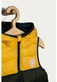 Żółta kamizelka Jack & Jones z kapturem, casualowa, na co dzień