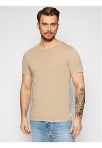 Jack & Jones - Jack&Jones T-Shirt Orrganic Basic 12156101 Beżowy Slim Fit. Kolor: beżowy