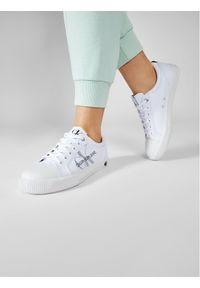 Calvin Klein Jeans Trampki Vulcanized Sneaker Laceup Pes YW0YW00043 Biały. Kolor: biały