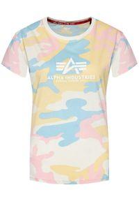 T-shirt Alpha Industries w kolorowe wzory