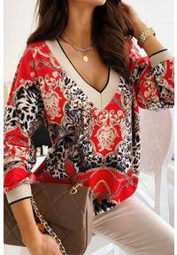 Czerwona bluzka IVET casualowa, na co dzień