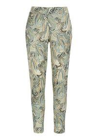 Zielone spodnie Cream paisley