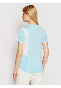 Niebieska koszulka sportowa Adidas do biegania