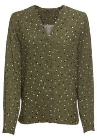 Zielona bluzka bonprix w kropki, elegancka
