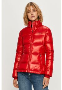 Czerwona kurtka Calvin Klein na co dzień, bez kaptura
