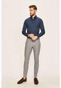 Niebieska koszula Strellson elegancka, z klasycznym kołnierzykiem, długa