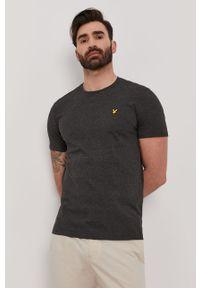 Szary t-shirt Lyle & Scott casualowy, melanż