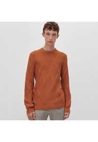 Sweter Reserved klasyczny, z klasycznym kołnierzykiem