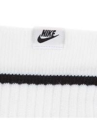 Nike - Zestaw 2 par wysokich skarpet unisex NIKE - SX7166 100 Biały. Kolor: biały. Materiał: materiał, bawełna, nylon, poliester, elastan