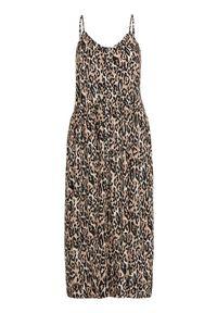 Freequent Sukienka z wiskozy Mille we wzory female ze wzorem XXL (46). Materiał: wiskoza. Długość rękawa: na ramiączkach