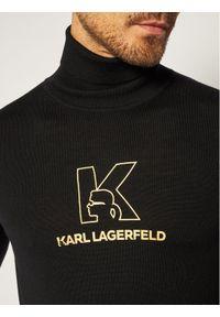 Czarny golf Karl Lagerfeld z golfem
