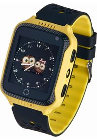 Żółty zegarek Garett Electronics smartwatch
