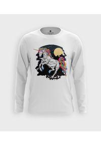 MegaKoszulki - Koszulka męska z dł. rękawem Jednorożec o północy. Materiał: bawełna