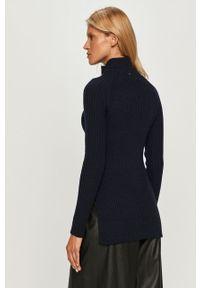 Niebieski sweter Sportmax Code z golfem, klasyczny, raglanowy rękaw