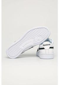 Białe sneakersy Reebok Classic z okrągłym noskiem, Reebok Classic, z cholewką