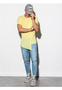 Żółty t-shirt Ombre Clothing #5