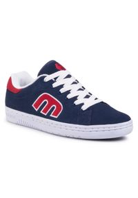 Niebieskie sneakersy Etnies na co dzień, z cholewką