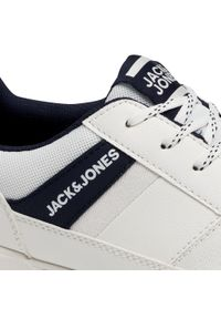 Jack & Jones - Sneakersy JACK&JONES - Jfwbyson 12181823 Bright White. Okazja: na co dzień. Kolor: biały. Materiał: skóra ekologiczna, materiał. Szerokość cholewki: normalna. Styl: casual #8
