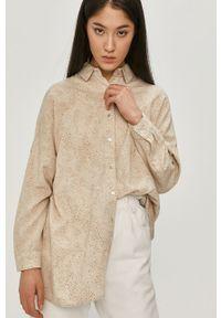 Beżowa koszula Answear Lab z długim rękawem, długa