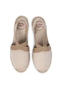 Beżowe sandały Toni Pons na średnim obcasie, na obcasie, casualowe, na co dzień