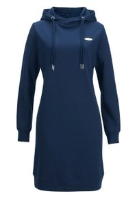 Niebieska sukienka bonprix z kapturem