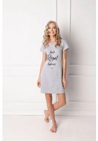 Szara piżama Aruelle krótka, z nadrukiem