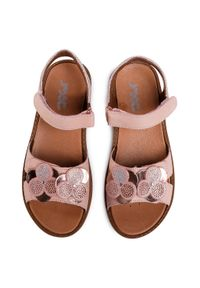 Różowe sandały Imac z aplikacjami, na co dzień