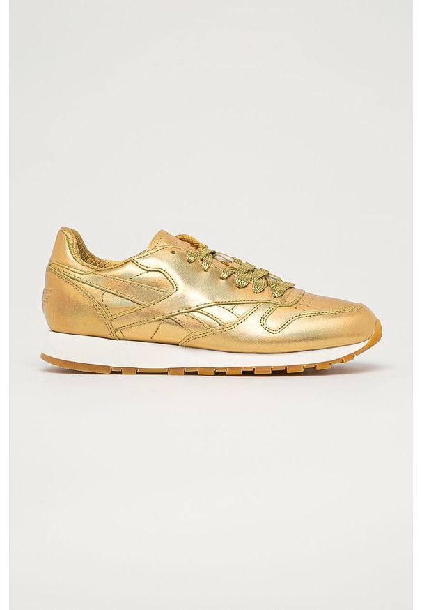 Złote buty sportowe Reebok Classic Reebok Classic, z cholewką