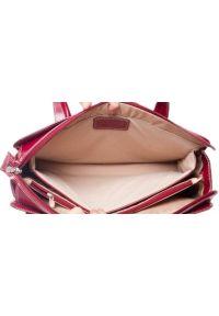Czerwona torba na laptopa MCKLEIN klasyczna, z aplikacjami
