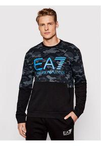 EA7 Emporio Armani Bluza 3KPM43 PJ5BZ 2216 Czarny Relaxed Fit. Kolor: czarny