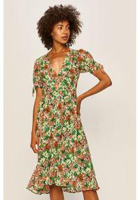 Wielokolorowa sukienka Pepe Jeans na co dzień, mini, prosta, casualowa