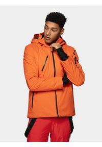 4f - Kurtka narciarska męska. Kolor: pomarańczowy. Materiał: mesh, materiał. Technologia: Dermizax. Sezon: zima. Sport: narciarstwo