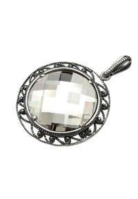 Polcarat Design - Wisiorek srebro Swarovski W 980. Materiał: srebrne. Wzór: aplikacja. Kamień szlachetny: kryształ