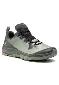 Zielone buty trekkingowe salomon Gore-Tex, na co dzień