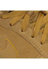 Brązowe półbuty Nike na sznurówki, na zimę, z cholewką