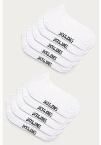 Białe skarpetki Jack & Jones z nadrukiem