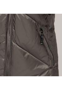 Wittchen - Damska kurtka puchowa z kapturem. Typ kołnierza: kaptur. Kolor: szary. Materiał: nylon. Sezon: zima, jesień