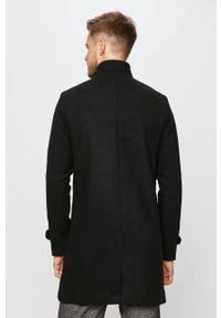 Czarny płaszcz Premium by Jack&Jones casualowy, na co dzień, bez kaptura