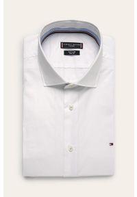 Biała koszula Tommy Hilfiger Tailored z klasycznym kołnierzykiem, gładkie