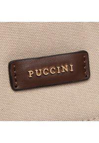 Beżowa torebka klasyczna Puccini klasyczna