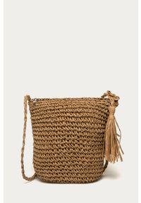 Złota torba plażowa ANSWEAR wakacyjna, mała, na ramię