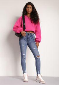 Renee - Niebieskie Jeansy Skinny Rozis. Stan: podwyższony. Kolor: niebieski. Długość: długie. Styl: elegancki
