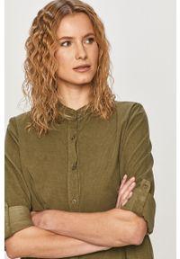 Haily's - Sukienka. Typ kołnierza: kołnierzyk stójkowy. Kolor: zielony. Materiał: materiał. Długość rękawa: długi rękaw
